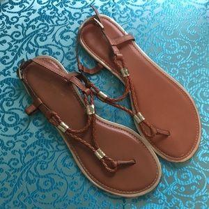 Braided thong sandal